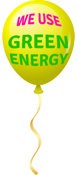 We use green energy