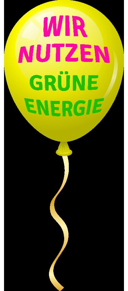 Wir nutzen grüne Energie